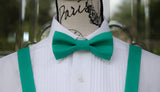 (49-108) Jade Green Bow Tie and/or Suspenders - Mr. Bow Tie