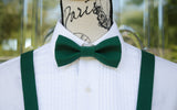 (61-14) Juniper Green Bow Tie and/or Suspenders - Mr. Bow Tie