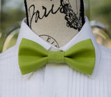 (59-192) Olive Green Bow Tie and/or Suspenders - Mr. Bow Tie