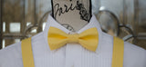 (01-131) Lemon Yellow Bow Tie and/or Suspenders - Mr. Bow Tie