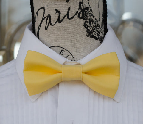 (01-131) Lemon Yellow Bow Tie - Mr. Bow Tie