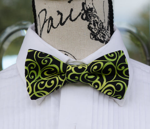 Lemon-Lime Swirl Bow Tie - Mr. Bow Tie