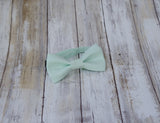 (55-132) Light Mint Green Bow Tie and/or Suspenders - Mr. Bow Tie