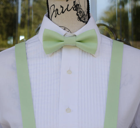 (56-133) Mint Green Bow Tie and/or Suspenders - Mr. Bow Tie