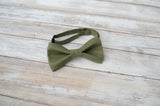 (61-164R) Moss Green Bow Tie and/or Suspenders - Mr. Bow Tie
