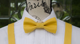 (02-213) Mustard Yellow Bow Tie and/or Suspenders - Mr. Bow Tie
