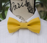 Mustard Yellow mens bow tie for weddings, prom, graduation and formal events. Bow ties are handmade, pretied and made in Canada