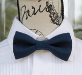 (41-20) Navy Blue Bow Tie and/or Suspenders - Mr. Bow Tie