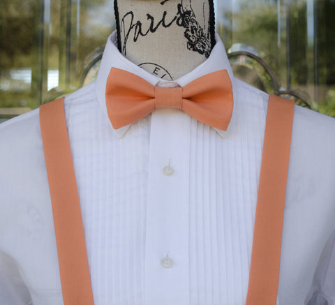 (07-79) Ochre Bow Tie and/or Suspenders - Mr. Bow Tie
