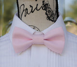 (13-248) Parfait Pink Bow Tie and/or Suspenders - Mr. Bow Tie