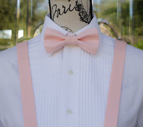 (11-145) Pastel Pink Bow Tie and/or Suspenders - Mr. Bow Tie