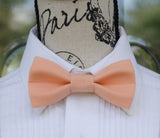 Pink Bow Tie and Suspenders (Peach Bowtie and Suspenders) for Weddings, Prom, Graduation and Formal Events. Bow Tie and Suspenders are Handmade and Made in Canada. Made by Mr. Bow Tie.