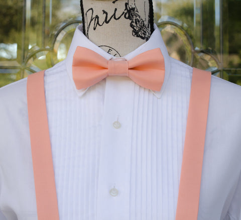 (06-297) Peach Blossom Bow Tie and/or Suspenders - Mr. Bow Tie