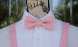 (14-166) Pink Bow Tie and/or Suspenders - Mr. Bow Tie