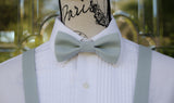 (65-219) Platinum Gray Bow Tie and/or Suspenders - Mr. Bow Tie