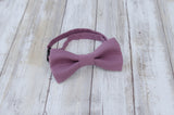 (25-204) Plum Bow Tie and/or Suspenders - Mr. Bow Tie