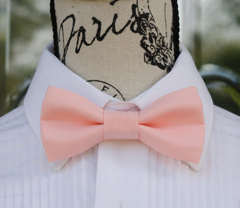 Medium Pink mens bow tie for weddings, prom, graduation and formal events. Bow ties are handmade, pretied and made in Canada
