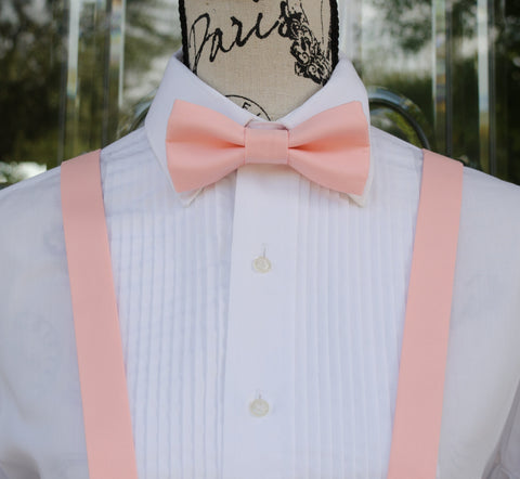 (14-335) Ballet Pink Bow Tie and/or Suspenders - Mr. Bow Tie