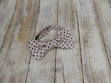 Light Gray with Black Dots Bow Tie - Mr. Bow Tie