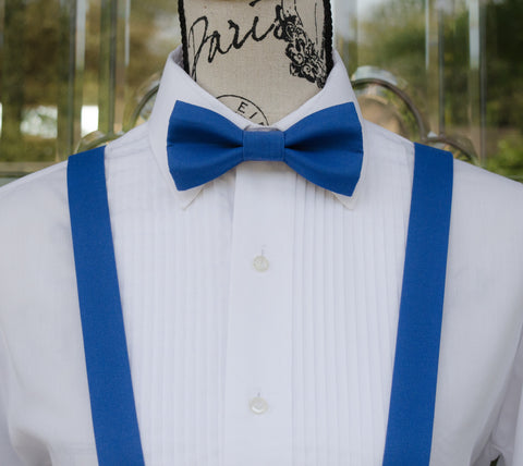 (39-305) Regatta Royal Blue Bow Tie and/or Suspenders - Mr. Bow Tie