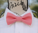 Rose Pink mens bow tie for weddings, prom, graduation and formal events. Bow ties are handmade, pretied and made in Canada