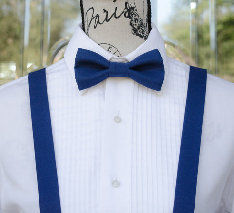 (39-19) Royal Blue Bow Tie and/or Suspenders - Mr. Bow Tie