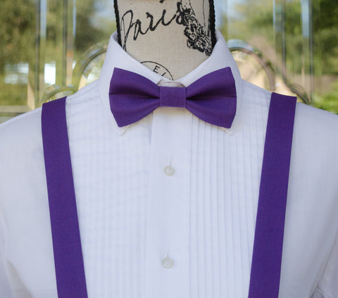 (34-21) Royal Purple Bow Tie and/or Suspenders - Mr. Bow Tie