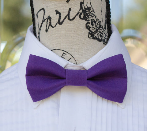 (34-21) Royal Purple Bow Tie - Mr. Bow Tie