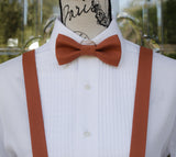 (04-105) Rust Bow Tie and/or Suspenders - Mr. Bow Tie