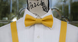 (02-232) Saffron Yellow Bow Tie and/or Suspenders - Mr. Bow Tie
