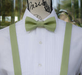 (61-172) Sage Green Bow Tie and/or Suspenders - Mr. Bow Tie