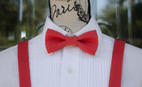 (18-47) Scarlet Bow Tie and/or Suspenders - Mr. Bow Tie