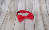 Scarlet Red mens bow tie for weddings, prom, graduation and formal events. Bow ties are handmade, pretied and made in Canada