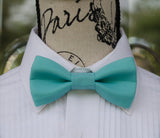 (46-191) Seafoam Blue Bow Tie and/or Suspenders - Mr. Bow Tie