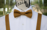 (63-194) Sienna Brown Bow Tie and/or Suspenders - Mr. Bow Tie