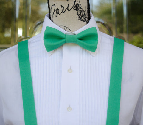 (49-304) Spearmint Bow Tie and/or Suspenders - Mr. Bow Tie