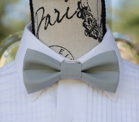 (66-184) Steel Grey Bow Tie - Mr. Bow Tie