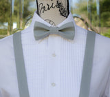(66-184) Steel Gray Bow Tie and/or Suspenders - Mr. Bow Tie