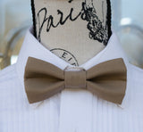 (63-129) Dark Taupe Bow Tie and/or Suspenders - Mr. Bow Tie