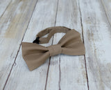 (63-129) Dark Taupe Brown Bow Tie
