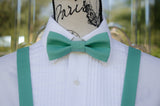 (53-126) Teal Bow Tie and/or Suspenders - Mr. Bow Tie