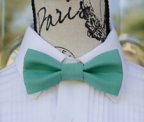 (53-126) Teal Bow Tie - Mr. Bow Tie