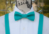 (47-107) Turquoise Bow Tie and/or Suspenders