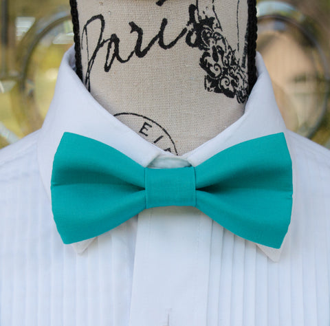 (47-107) Turquoise Bow Tie - Mr. Bow Tie
