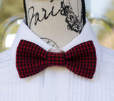 Red/Black Print Winter Bow Tie - Mr. Bow Tie