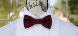Red/Black Plaid Winter Bow Tie - Mr. Bow Tie