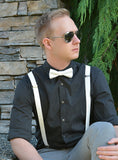 (72-200) Off White Bow Tie and/or Suspenders - Mr. Bow Tie
