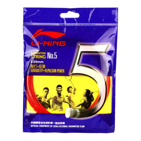 Li-Ning String No.5 Badminton Racket String (Pack of 5)-Proshack.in