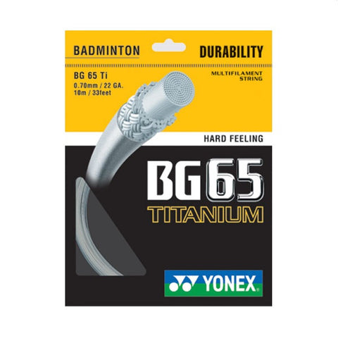 Yonex BG65 Titanium String (Pack of 5)-Proshack.in
