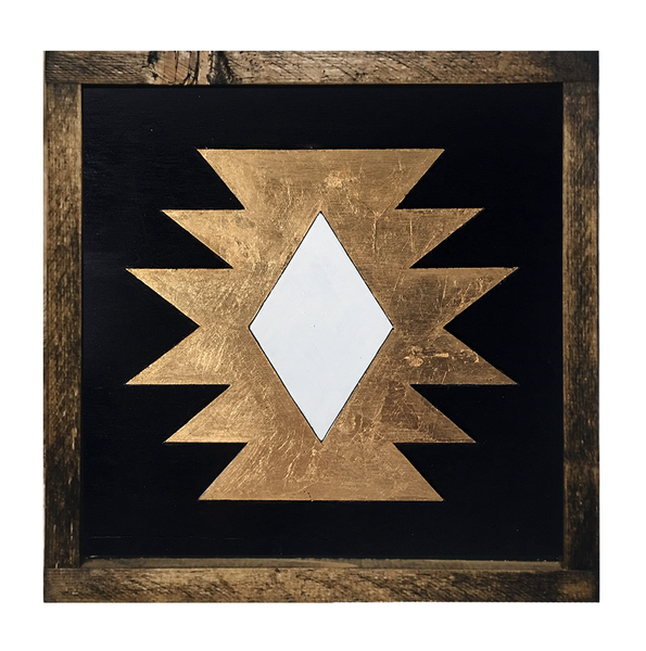 Gold Aztec framed